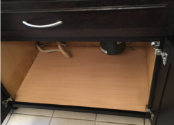 Water Damage Sink Base Cabinet From Leaking Pipe - After Restoration