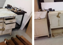 Hoosier Cabinet Before Refinishing in Carol Stream, IL