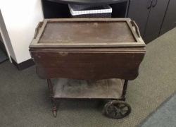 Great Grandma's Tea Cart Before Restoration in Illinois