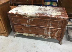 Hope Chest Before Restoration in West Chicago, IL