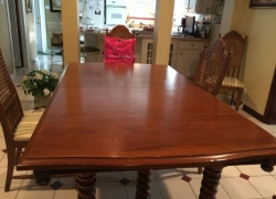wooden table and chairs refinishing - before in Carol Stream, IL