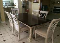 wooden table and chairs restoration - AFTER in Carol Stream, IL