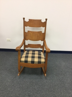 Solid Oak Rocking Chair Refinished 325 Furniture Medic