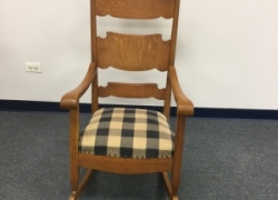 Solid-Oak-Rocking-Chair-Refinished-325-Furniture-Medic-Carol-Stream-IL