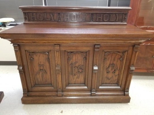 Vintage Church Furniture Refinish In Carol Stream, IL
