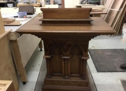 Vintage Church Furniture Restored in West Chicago, IL