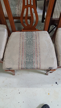 Dining room chair before restoration in St. Charles, IL