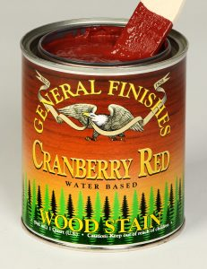 Retail Water Based Wood Stain Cranberry Red