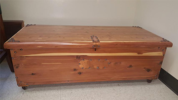 Hope Chest After Restoration in West Chicago, IL