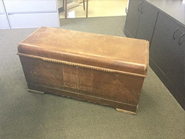Hope Chest Before Restoration in Carol Stream, IL