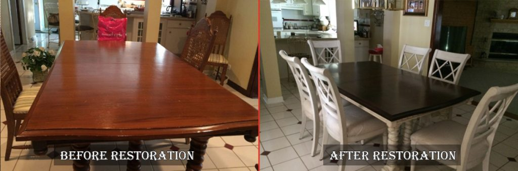 Wooden Table and Chairs Refinishing in Carol Stream, IL