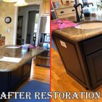 Furniture Medic Updates Kitchen Island with Fresh Paint Job