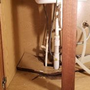 Furniture Medic by MasterCare Experts Repairs Water Damaged Sink Base Cabinet Floor