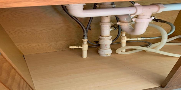 We Repair Water Damaged Sink Base Cabinet Floor