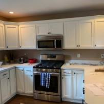 Furniture Medic by MasterCare Experts Restores and Refaces Water Damaged Kitchen Cabinets