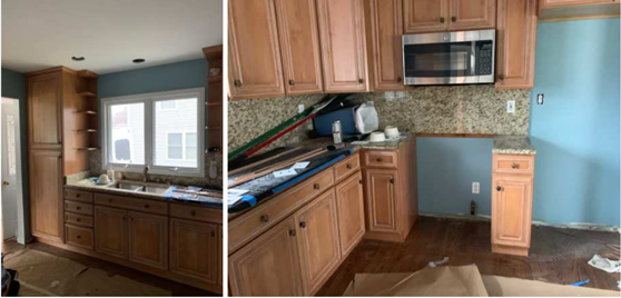Experts Restores Wet Kitchen Cabinets | Furniture Medic by ...