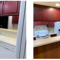 Furniture Medic by MasterCare Experts Helps Refinish Soot Damaged Cabinets